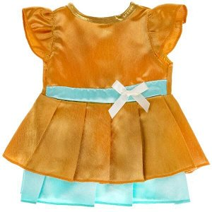 OTF-2104D-RU Одежда для кукол 40-42см атласное платье КАРАПУЗ в кор.100шт