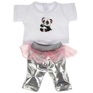 OTF-2104SS-RU Одежда для кукол 40-42см костюм с юбкой панда КАРАПУЗ в кор.100шт