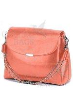 Женская кожаная сумка Dina. Мандариновый