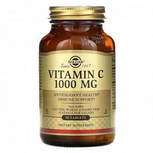 Solgar, витамин C, 1000 мг, 90 таблеток