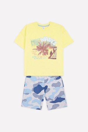 Комплект для мальчика Crockid К 2752 бледный лимон + серо-голубой меланж к1263