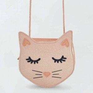 Сумка на ремне 'Кошка' - розовый