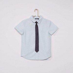Рубашка Оксфорд и галстук - голубой