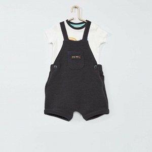 Комплект из комбинезона и футболки Eco-conception - черный