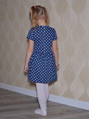 Платье ГОРОХ короткий рукав.