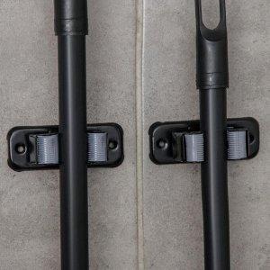 Набор держателей для швабр 8,5?3,5?6 см, 1 отделение, 2 шт, крепление саморезы в комплекте