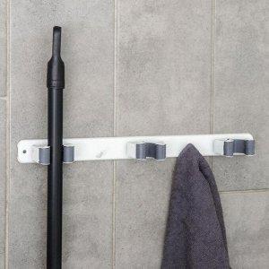 Держатель для швабр 35?5?3 см, 3 отделения, крепление саморезы в копмлекте