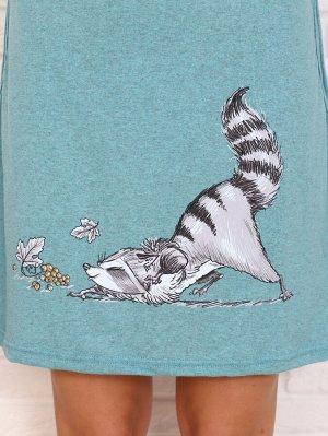 Туника Цвет: ментол; Состав: 80%хлопок, 20%п/э; Материал: Кулирка Удобная тунка, подойдет как для дома, так и для летних прогулок.