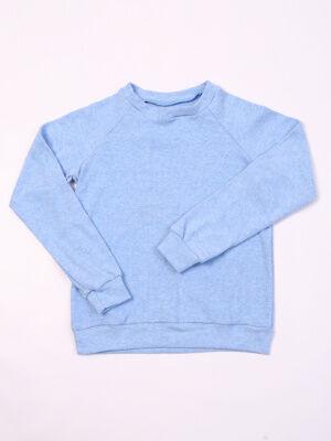 Джемпер Цвет: голубой; Состав: хл.72%, п.э. 20% лайкра8%; Материал: кашкорсе Универсальный джемпер на девочку хорошо подойдет в качестве школьного варианта и для повседневной носки.
