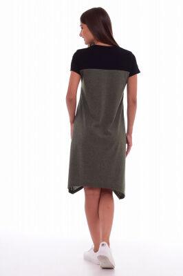 Платье Цвет: хаки-меланж; Состав: 50%хлопок, 50%пэ; Материал: Кулирка Спортивный стиль в одежде является одним из самых комфортных, удобных и практичных. Это платье не будет стеснять движение, в тоже