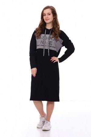 Платье Цвет: черный; Состав: хлопок 72%, п.э. 20%, лайкра 8% Стильное платье в спортивном стиле на весну! На моделе представлен модный лук этого года. Платье идеально подходит для повседневной носки.