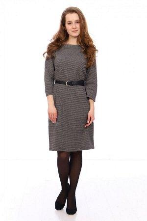 Платье Состав: 40% хлопок, 55% п/э, 5% лайкра Красивое женское платье из плотного жаккардового полотна. Хорошо сидит по фигуре! Ремень в комплект не входит!