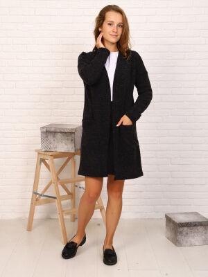 Кардиган-1 Цвет: черный; Состав: пэ100%; Материал: трикотажное полотно Кардиган - является очень удобной и функциональной одеждой! Кардиганы востребованы и при создании повседневных образов. Они сочет