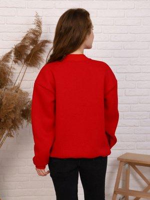 Толстовка Цвет: красный; Состав: 80%хлопок, 20%п/э; Материал: футер трехнитка с начесом Удобная, универсальная толстовка с рукавом реглан, свободным кроем. Данная модель выполнена из мягкого трикотажн