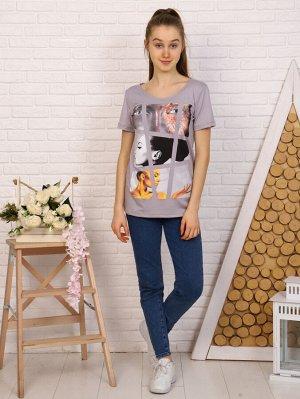 Футболка Цвет: серый; Состав: 95% вискоза 5% лайкра; Материал: вискоза Оригинальная футболка для девушек из вискозы. Легкая и приятная к телу.