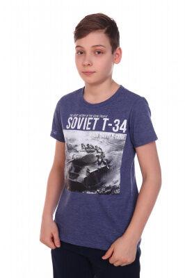 Футболка Цвет: синий; Состав: 50%хлопок, 50%пэ; Материал: Кулирка Легкая футболка на лето, с крутым принтом на мальчика. Сочетается с любой одеждой.