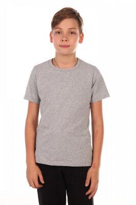 Футболка Цвет: серый; Состав: 59%хлопок, 36%п/э, 5%лайкра; Материал: Кулирка с лайкрой Эти футболки незаменимы для занятий физкультурой.Они соответствуют всем требованиям школы. Их часто приобретают с