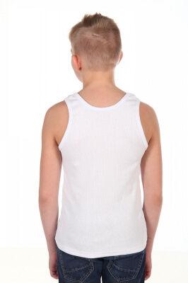 Майка Цвет: белый; Состав: хл.92%, лайкра 8%; Материал: кашкорсе Майка из натурального материала облегающего силуэта.