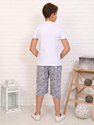 Шорты Состав: хлопок70%, п/э30%; Материал: Кулирка Стильные шорты с модным рисунком. Ткань - кулирное полотно. Шорты прекрасно подходят для повседневного использования в теплое время года или на отдых