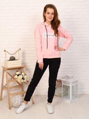 Толстовка Цвет: розовый; Состав: хлопок72%, п/э20%, лайкра8%; Материал: футер с лайкрой Толстовка- это повседневный и универсальный стиль в одежде. Она подойдет на весенне-летний период. Сочетается ка