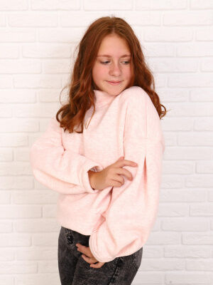 Толстовка Цвет: розовый меланж; Состав: хлопок40%, пэ60%; Материал: футер трехнитка с начесом Футер- это идеальный материал для толстовки. Он натуральный, на основе хлопковой нити. Футер- довольно пло