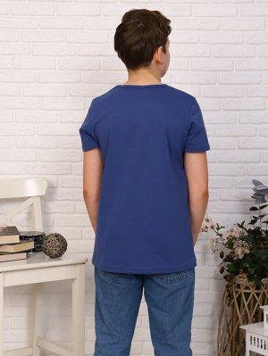 Футболка Цвет: индиго; Состав: хлопок92%, лайкра8%; Материал: Кулирка с лайкрой Легкая футболка на лето, с крутым принтом на мальчика. Сочетается с любой одеждой.