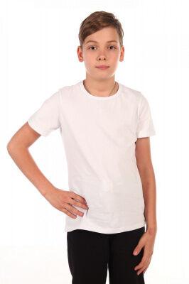 Футболка Цвет: белый; Состав: хлопок 92%, лайкра 8%; Материал: Кулирка с лайкрой Эти футболки незаменимы для занятий физкультурой.Они соответствуют всем требованиям школы. Их часто приобретают с целью