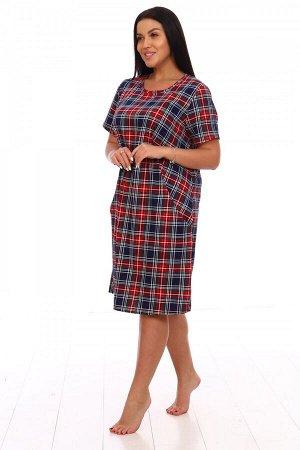 Платье Ткань: Кулирка; Состав: 100% хлопок; Размеры: 52, 54, 56, 58, 60, 62