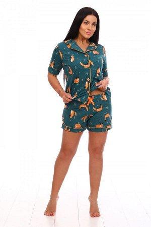 Пижама Ткань: Кулирка; Состав: 100% хлопок; Размеры: 42-52; Цвет: Лисята