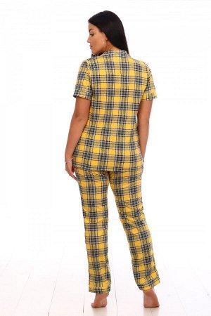 Пижама Ткань: Кулирка; Состав: 100% хлопок; Размеры: 44-54; Цвет: Желтая клетка