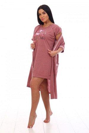 Космплект Ткань: Кулирка; Состав: 100% хлопок; Размеры: 46, 48, 50, 52, 54, 56; Цвет: Розовый