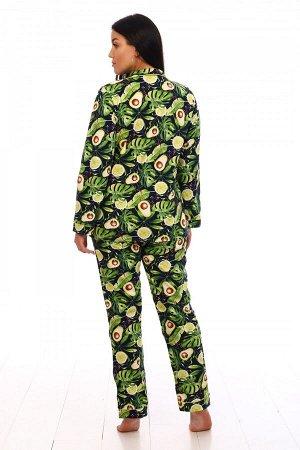 Пижама Ткань: Кулирка; Состав: 100% хлопок; Размеры: 44-54; Цвет: Авокадо
