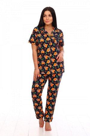 Пижама Ткань: Кулирка; Состав: 100% хлопок; Размеры: 44-54; Цвет: Лисята