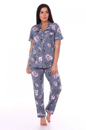 Пижама Ткань: Кулирка; Состав: 100% хлопок; Размеры: 44-54