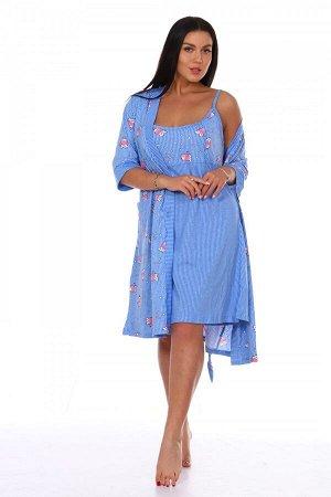 Космплект Ткань: Кулирка; Состав: 100% хлопок; Размеры: 44-54; Цвет: Голубой