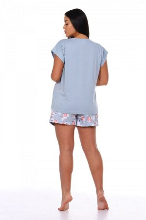 Пижама Цвет: Серый; Ткань: Кулирка; Состав: 100% хлопок; Размеры: 42, 50, 52