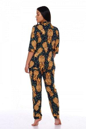 Пижама Ткань: Кулирка; Состав: 100% хлопок; Размеры: 44-54; Цвет: Ананас