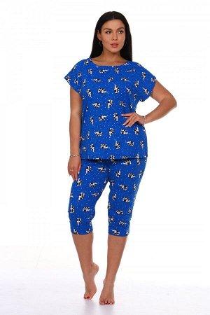 Пижама Ткань: Кулирка; Состав: 100% хлопок; Размеры: 42-52; Цвет: Василек