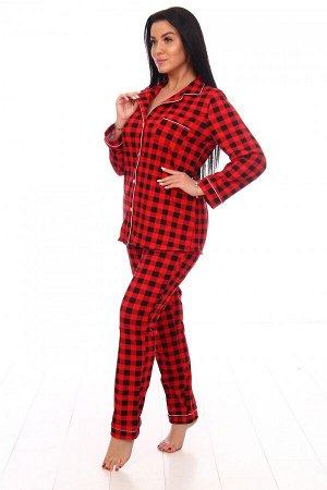 Пижама Ткань: Кулирка; Состав: 100% хлопок; Размеры: 44-54; Цвет: Красный