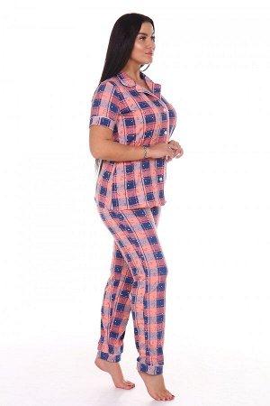 Пижама Ткань: Кулирка; Состав: 100% хлопок; Размеры: 44-54; Цвет: Розовый