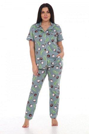 Пижама Ткань: Кулирка; Состав: 100% хлопок; Размеры: 44-54; Цвет: Хаки-кокос