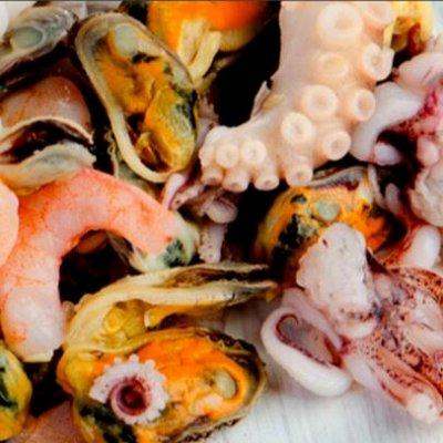 🐟Икра минтая! 🔥Гребешок по-Шанхайский.Рыбка малосол! 👍  — Гребешок,трубач,спизула, мидии, морской коктейль. — Закуски из морепродуктов