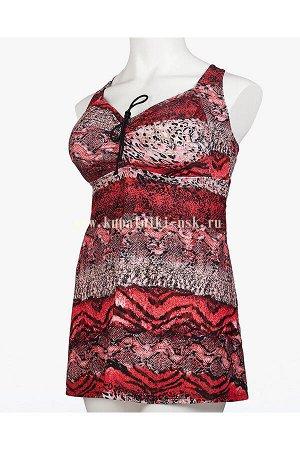 318001 абстракция платье (66-74) Купальник