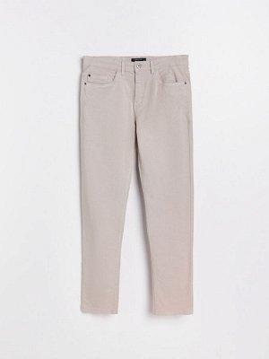 Хлопковые брюки slim fit
