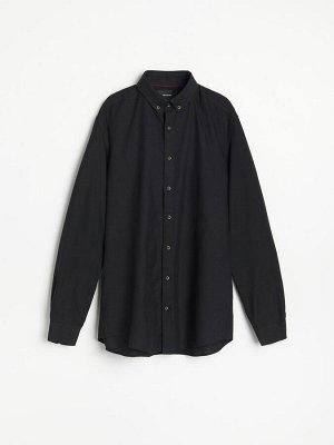 Рубашка regular fit с добавлением льна
