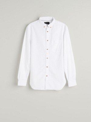 Рубашка в горошек из органического хлопка