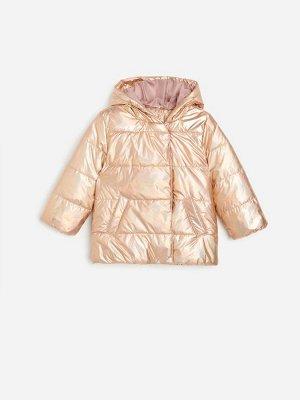 Стеганая куртка с голографическим эффектом