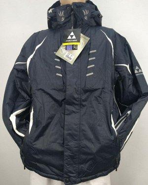 Куртка Мужская лыжная куртка синего цвета. 4 глубоких кармана спереди и по одному карману на рукавах, 2 внутренних потайных. Внутренний манжет трикотаж. внутренняя баска фиксируется кнопками и защищае