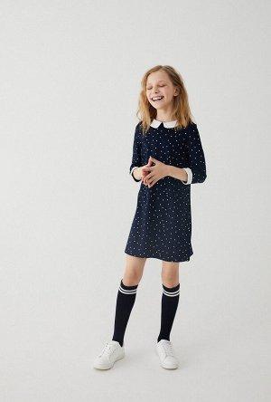 Платье детское для девочек Hoop темно-синий