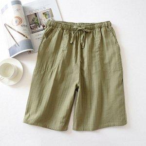 Мужские хлопковые шортики, цвет зеленый